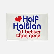 Half Haitian Rectangle Magnet
