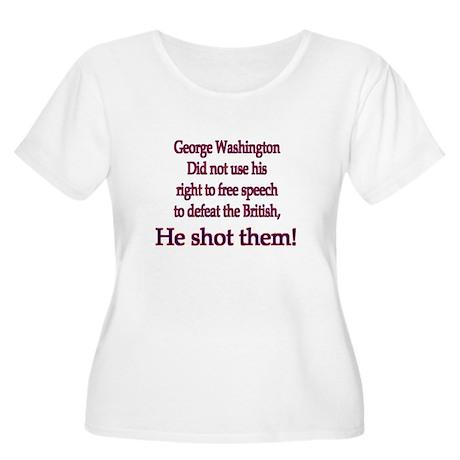 GeoWashington Women's Plus Size Scoop Neck T-Shirt