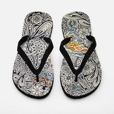 Butterfly Ink Flip Flops