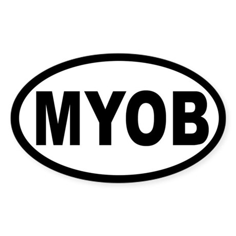 MYOB OVAL STICKERS Oval Sticker