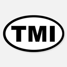 TMI OVAL STICKERS Oval Decal