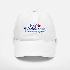 Half El Salvadorian Baseball Baseball Cap