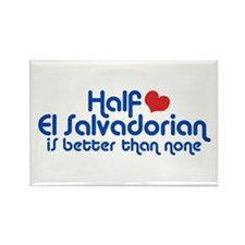 Half El Salvadorian Rectangle Magnet
