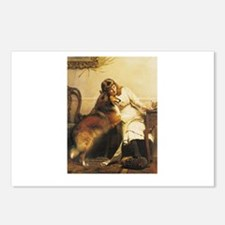 Girl and Collie Postcards (Package of 8)