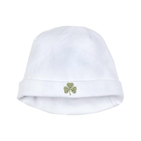 Irish Shamrock Made Of Skulls baby hat