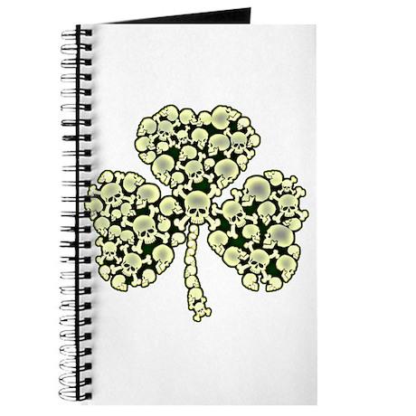 Irish Shamrock Made Of Skulls Journal