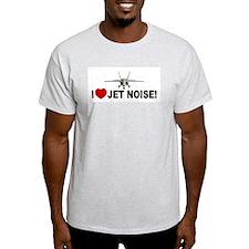 I Love Jet Noise Ash Grey T-Shirt