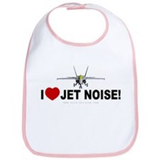 I Love Jet Noise Bib