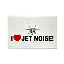 I Love Jet Noise Rectangle Magnet