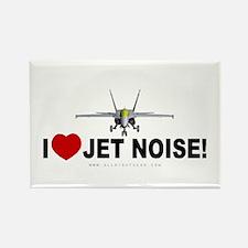 I Love Jet Noise Rectangle Magnet
