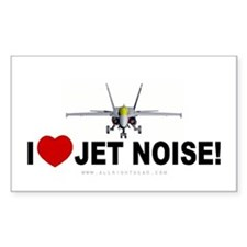 I Love Jet Noise Rectangle Decal