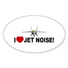 I Love Jet Noise Oval Decal