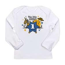 Little Cowboy 1st Birthday Long Sleeve Infant T-Sh