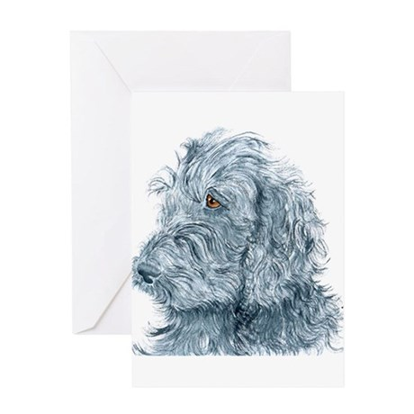 Black Labradoodle #2 Greeting Card