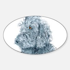 Black Labradoodle #2 Sticker (Oval)