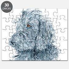Black Labradoodle #2 Puzzle