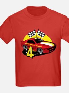 Race Car 4th Birthday T