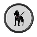 Pitbull Terrier Breast Cancer Support Large Wall C