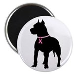 Pitbull Terrier Breast Cancer Support Magnet