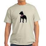 Pitbull Terrier Breast Cancer Support Light T-Shir