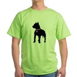 Pitbull Terrier Breast Cancer Support Green T-Shir