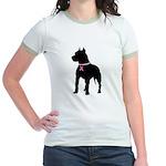 Pitbull Terrier Breast Cancer Support Jr. Ringer T