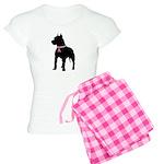 Pitbull Terrier Breast Cancer Support Women's Ligh