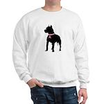 Pitbull Terrier Breast Cancer Support Sweatshirt