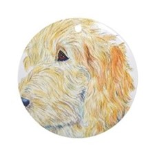 Cream Labradoodle 1 Ornament (Round)