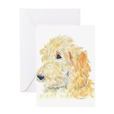 Cream Labradoodle 1 Greeting Card