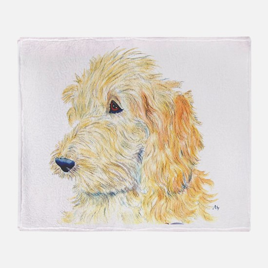 Cream Labradoodle 1 Throw Blanket