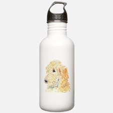 Cream Labradoodle 1 Water Bottle