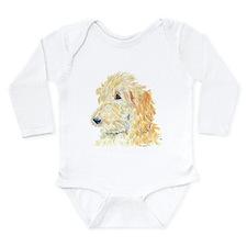 Cream Labradoodle 1 Long Sleeve Infant Bodysuit