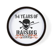 94 years of raising hell Wall Clock