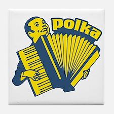 Polka Fan Tile Coaster