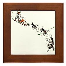 Eskimo Dogsled Framed Tile