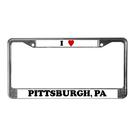 I Love Pittsburgh License Plate Frame