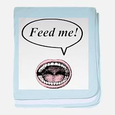 feed me! baby blanket
