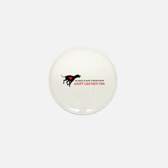 Adopt a Greyhound Mini Button