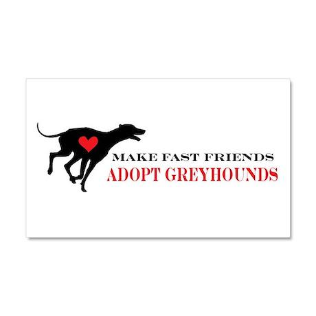 Adopt a Greyhound Car Magnet 20 x 12