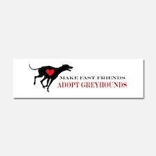 Adopt a Greyhound Car Magnet 10 x 3