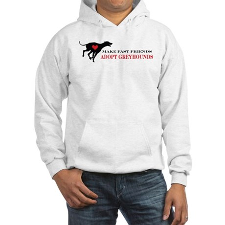 Adopt a Greyhound Hooded Sweatshirt