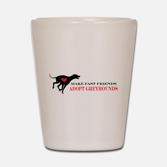 Adopt a Greyhound Shot Glass