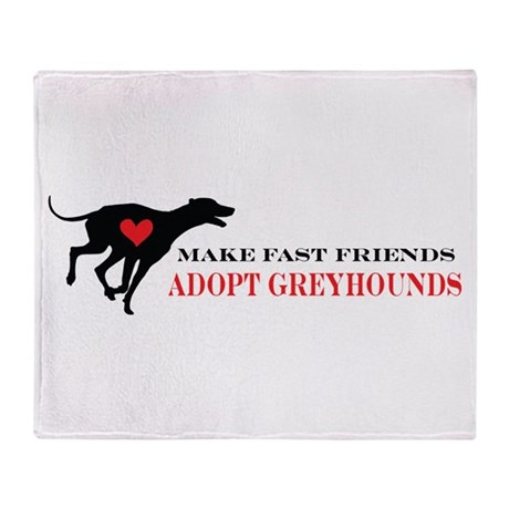 Adopt a Greyhound Throw Blanket