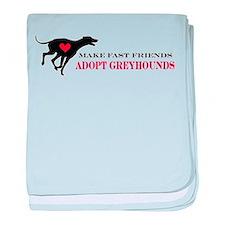 Adopt a Greyhound baby blanket