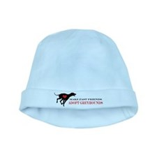 Adopt a Greyhound baby hat