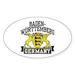 Baden Württemberg Germany Sticker (Oval)