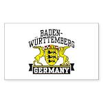 Baden Württemberg Germany Sticker (Rectangle)
