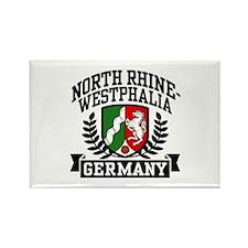 North Rhine Westphalia Germany Rectangle Magnet