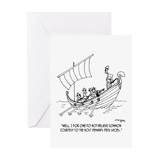 Courtesy Among Galley Slaves Greeting Card
